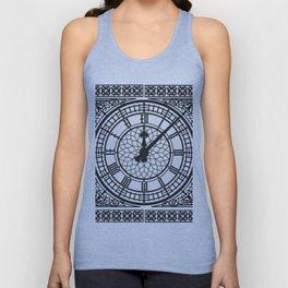 Big Ben, Clock Face, Intricate Vintage Timepiece Watch Unisex Tank Top