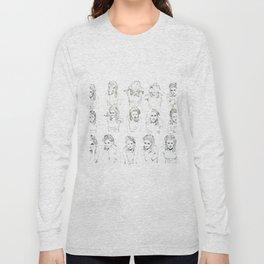 Kristen Stewart Sketches Long Sleeve T-shirt