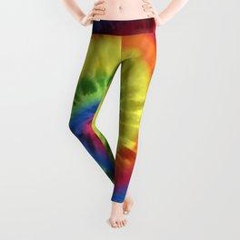 Boho Spiral Tie Dye Pattern Leggings