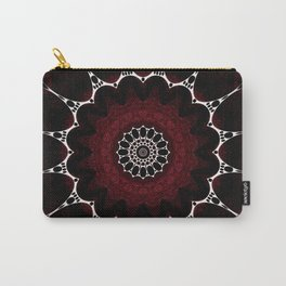 Deep Ruby Red Mandala Design Carry-All Pouch