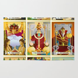 tarot major arcana cards Rug