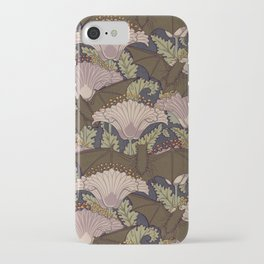 Vintage Art Deco Bat and Flowers iPhone Case