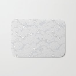 Kumori Nochi Sakura: Gray Bath Mat