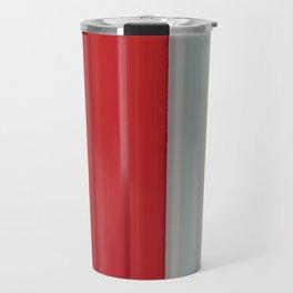 Pattern Red & White Travel Mug