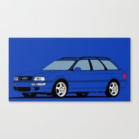 audi Canvas Prints featuring RS2 by Arch Duke Maxyenko