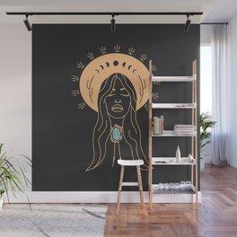 Desert Angel in Peach & Grey Wall Mural