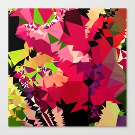 tropical fall colors geo Canvas Print