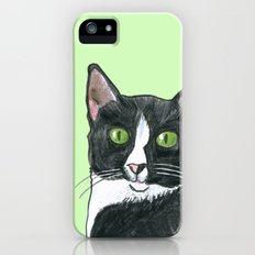 Black and White Cat  iPhone (5, 5s) Slim Case