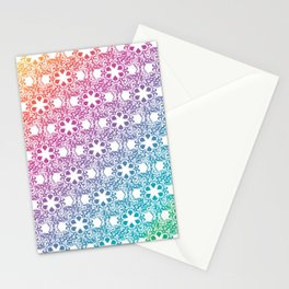 Rainbow Lace Stationery Cards