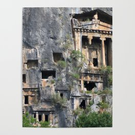 Rock Tombs Photograph Fethiye Poster