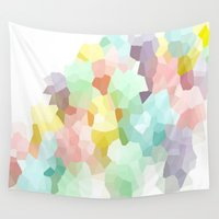 pastel Wall Tapestries featuring Pastel  by 2sweet4words Designs