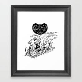 Steam Powered Bicycle Framed Art Print