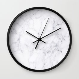 Luxury White Marble Wall Clock