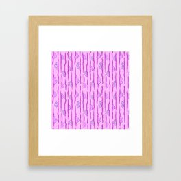 CALISTA VINTAGE, RETRO FLORAL: PASSION FOR PURPLE Framed Art Print