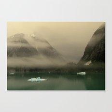 Icebergs in Alaska Canvas Print
