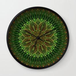 Earth Flower Mandala Wall Clock