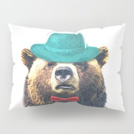 Funny Bear Illustration Pillow Sham