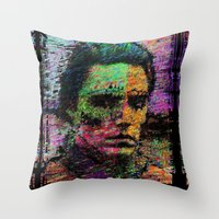 christopher walken Throw Pillows featuring Walken Around Town by brett66