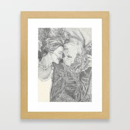 The Fault In Our Stars Pointillism Framed Art Print