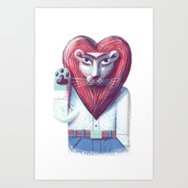 Lion's heart Art Print