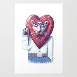 Lion's heart Art Print