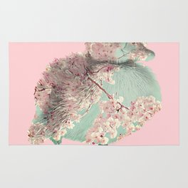 Cherry Blossom Baby Duck Rug