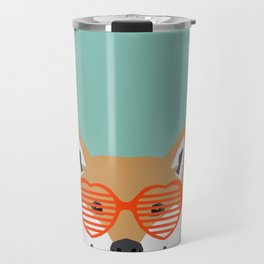 Shiba Inu Love - Gifts for pet owners dog person gifts shiba inu gifts customizable dog gifts cute Travel Mug