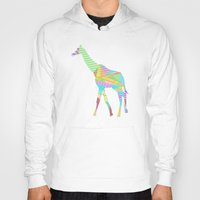 giraffe Hoodies featuring Giraffe by nessieness