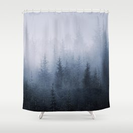 Misty fantasy forest. Shower Curtain