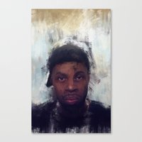 j dilla Canvas Prints featuring J-Dilla by 炎リュウ