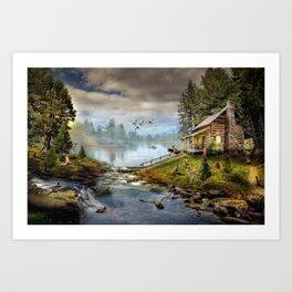 Wildlife Landscape Art Print