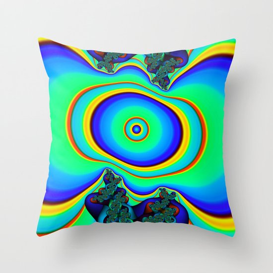 Rainbow Frequency Throw Pillow