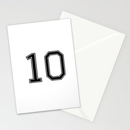Number 10 American Football, Soccer, Sport Design Stationery Cards