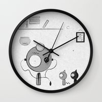 doctor Wall Clocks featuring Doctor by iodine