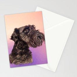 Miniature Schnauzer Portrait Gentle Pastel Stationery Cards