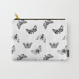 Autumn Night Moth White Carry-All Pouch
