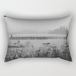 Misty Lough Eske Donegal bw Rectangular Pillow
