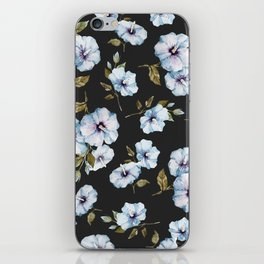 BLUE FLOWERS WATERCOLOR iPhone Skin