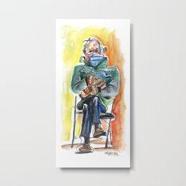 Bernie Sitting - watercolor drawing Metal Print