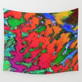 Shattering red tigers Wall Tapestry