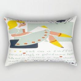 Vintage poster - Little Miss Muffet Rectangular Pillow
