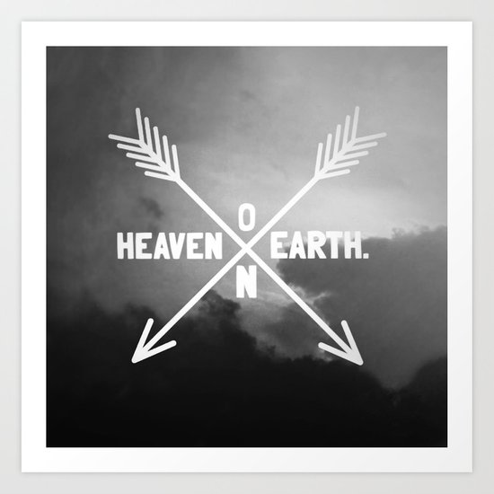 Heaven on Earth (B&W) Art Print
