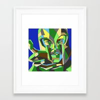 magneto Framed Art Prints featuring Magneto by Liam Brazier