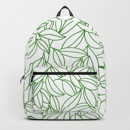 Organic clean pattern of green leafs Backpack