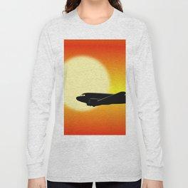 DC-3 passing sun Long Sleeve T-shirt