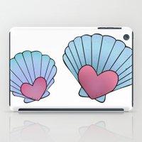 seashell iPad Cases featuring Seashell 💗 by Ana Turrubiates
