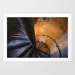 Notre Dame Stairs Art Print