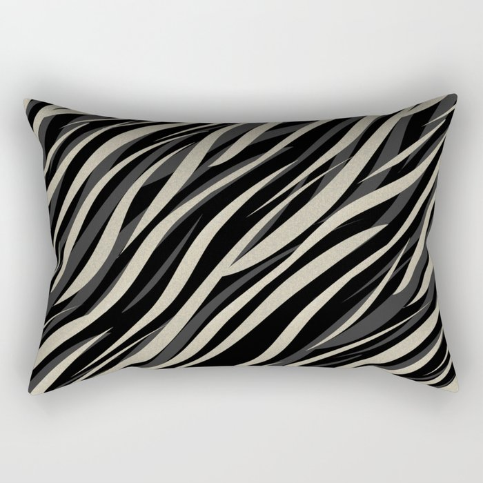 Tiger abstract striped pattern . Rectangular Pillow