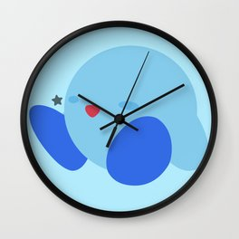 Kirby(Smash)Blue Wall Clock