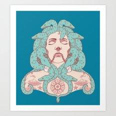 Tattooed Medusa Art Print